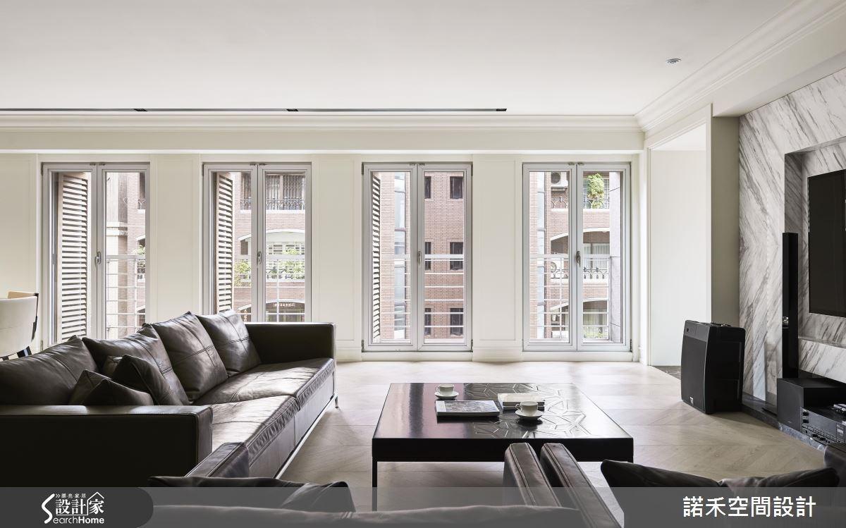50坪新成屋(5年以下)_美式風客廳案例圖片_諾禾空間設計 上碩室內裝修_諾禾_17之4
