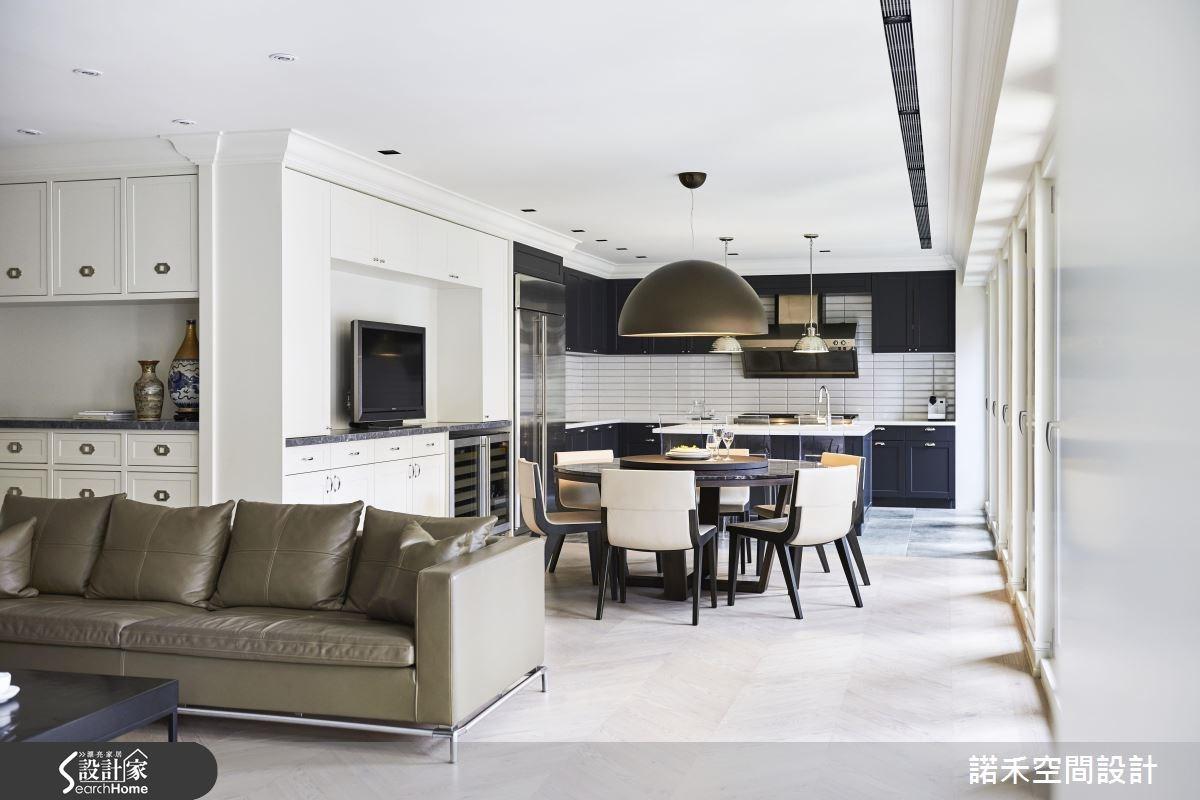 50坪新成屋(5年以下)_美式風客廳餐廳廚房案例圖片_諾禾空間設計 上碩室內裝修_諾禾_17之5