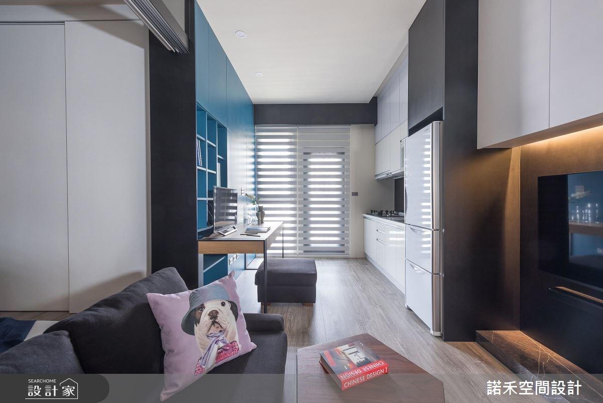 8坪新成屋(5年以下)_現代風客廳餐廳廚房案例圖片_諾禾空間設計 上碩室內裝修_諾禾_23之1