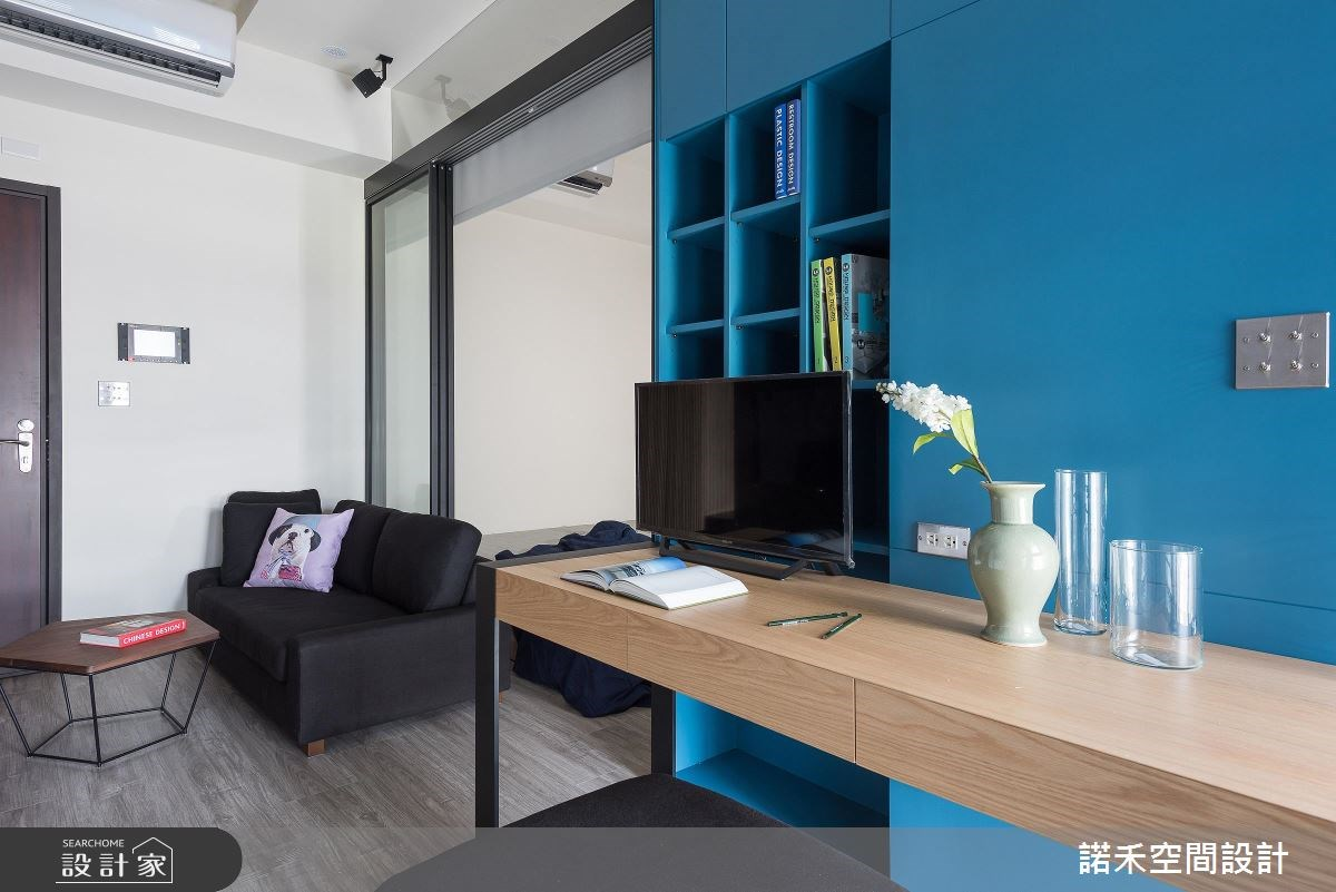 8坪新成屋(5年以下)_現代風玄關客廳書房案例圖片_諾禾空間設計 上碩室內裝修_諾禾_23之2
