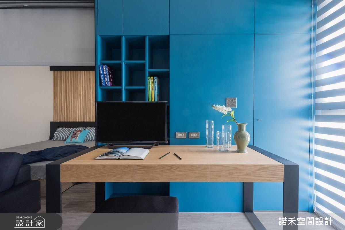 8坪新成屋(5年以下)_現代風客廳書房臥室案例圖片_諾禾空間設計 上碩室內裝修_諾禾_23之3