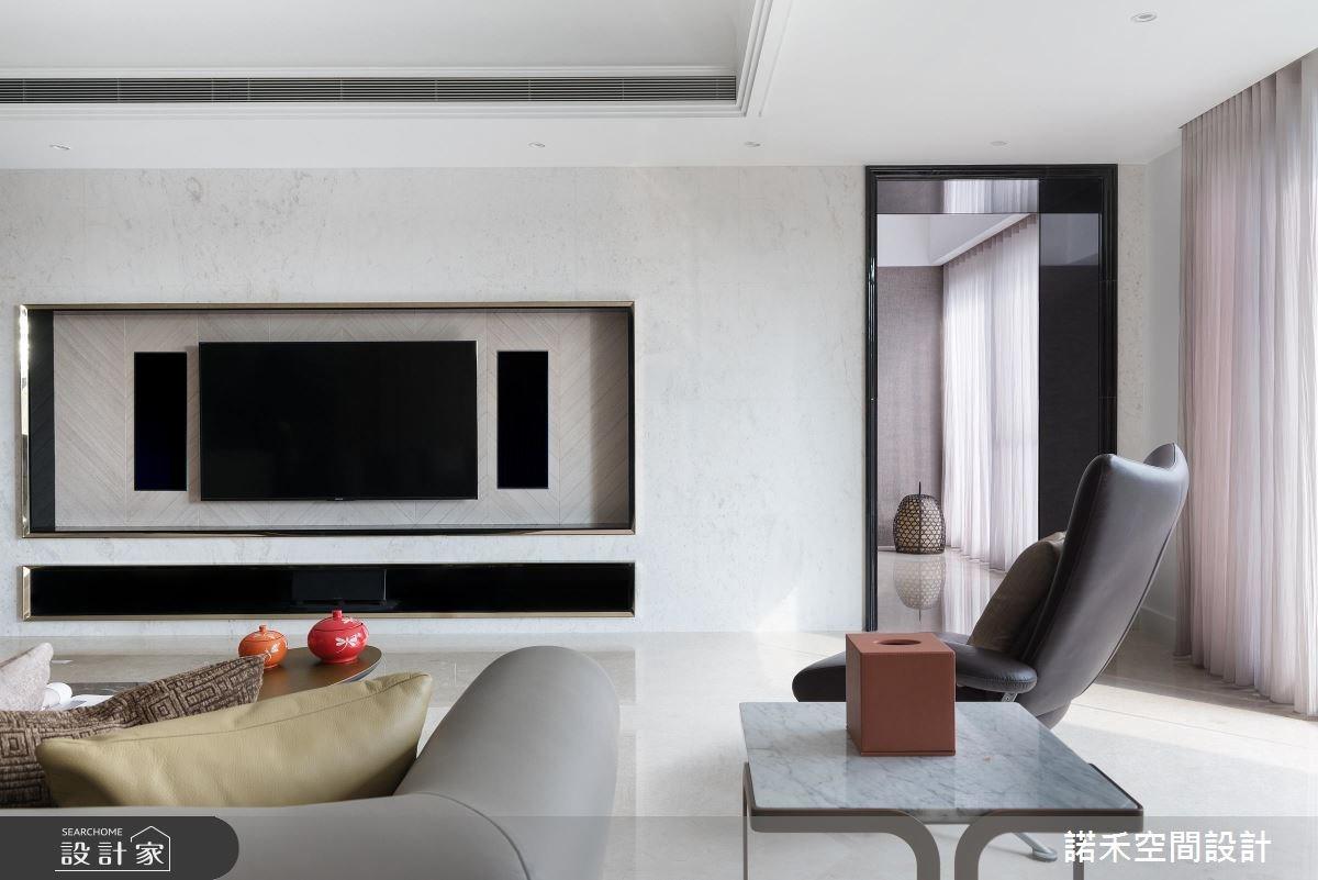 100坪新成屋(5年以下)_混搭風客廳案例圖片_諾禾空間設計 上碩室內裝修_諾禾_24之3