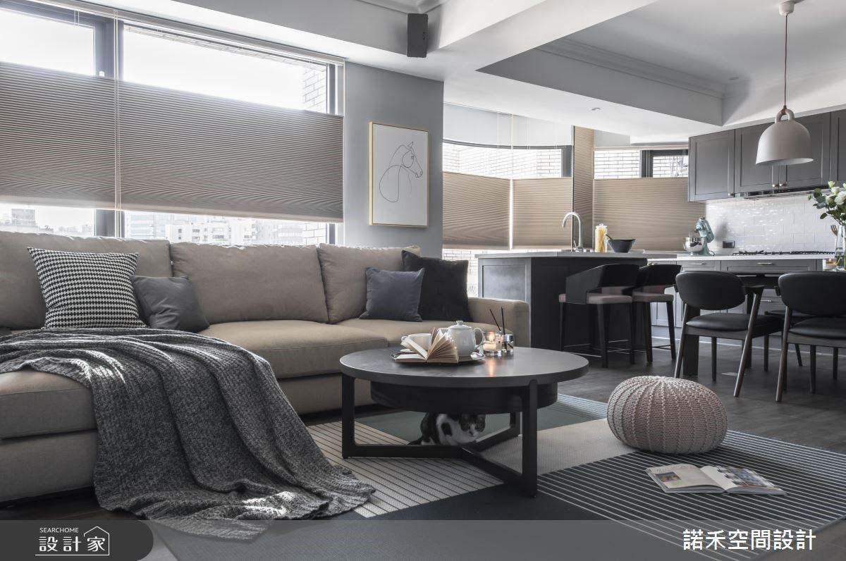 40坪老屋(16~30年)_美式風客廳案例圖片_諾禾空間設計 上碩室內裝修_諾禾_30之1