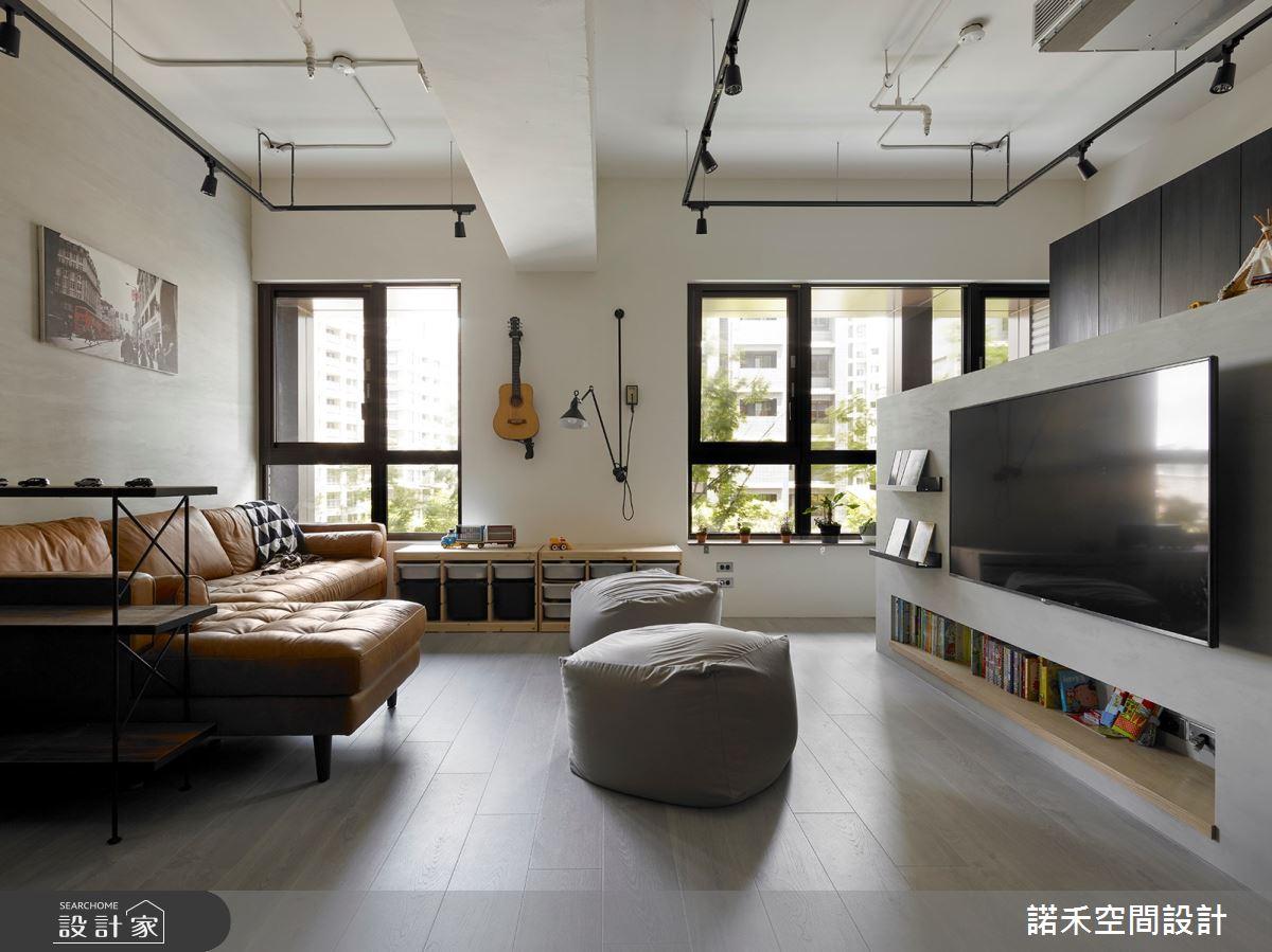 25坪新成屋(5年以下)_現代風客廳案例圖片_諾禾空間設計 上碩室內裝修_諾禾_32之2