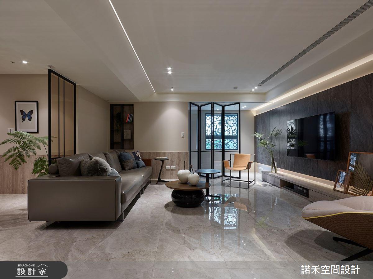 35坪老屋(16~30年)_現代風客廳案例圖片_諾禾空間設計 上碩室內裝修_諾禾_33之3