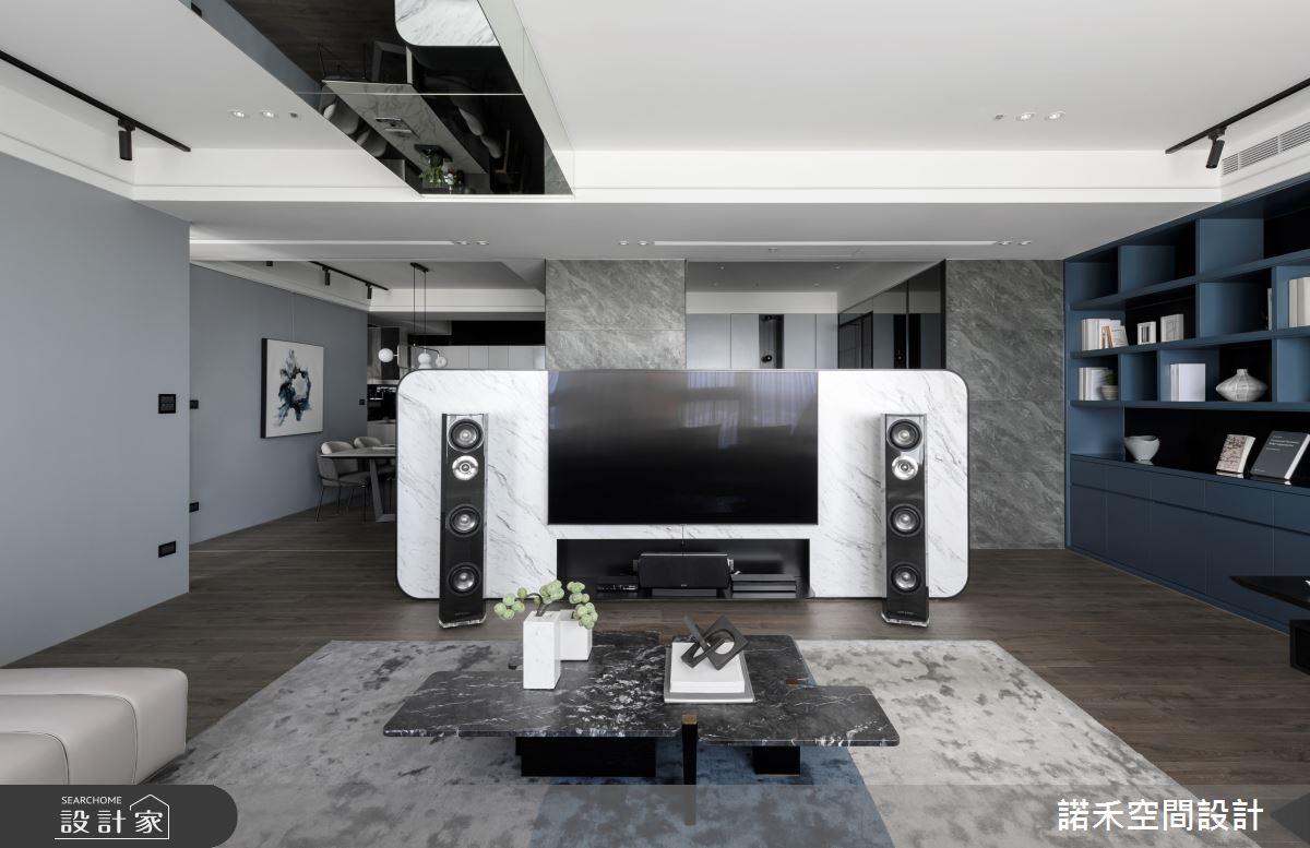 50坪新成屋(5年以下)_現代風客廳案例圖片_諾禾空間設計 上碩室內裝修_諾禾_36之4
