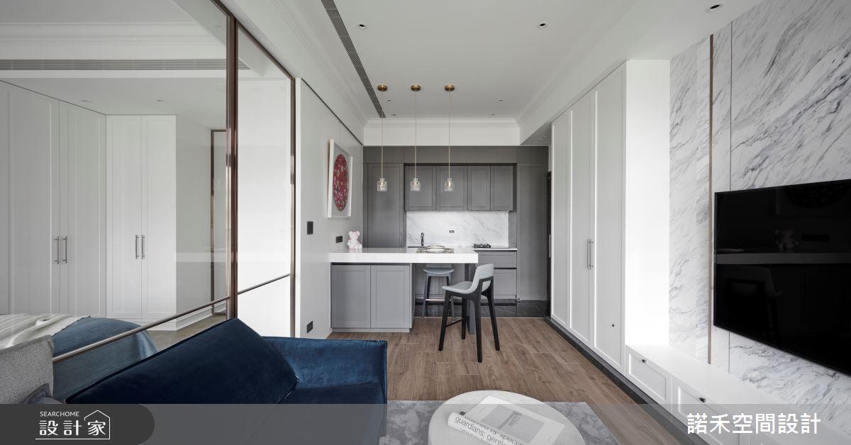 12坪中古屋(5~15年)_美式風客廳餐廳案例圖片_諾禾空間設計 上碩室內裝修_諾禾_39之4