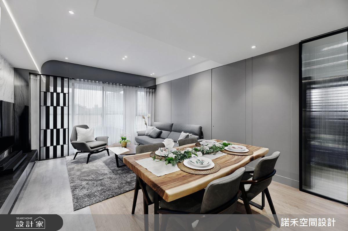 19坪新成屋(5年以下)_現代風客廳餐廳案例圖片_諾禾空間設計 上碩室內裝修_諾禾_40之3