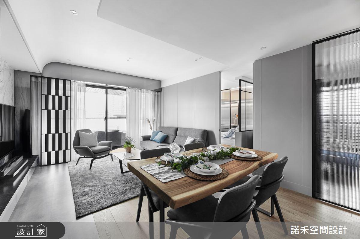 19坪新成屋(5年以下)_現代風客廳餐廳案例圖片_諾禾空間設計 上碩室內裝修_諾禾_40之2