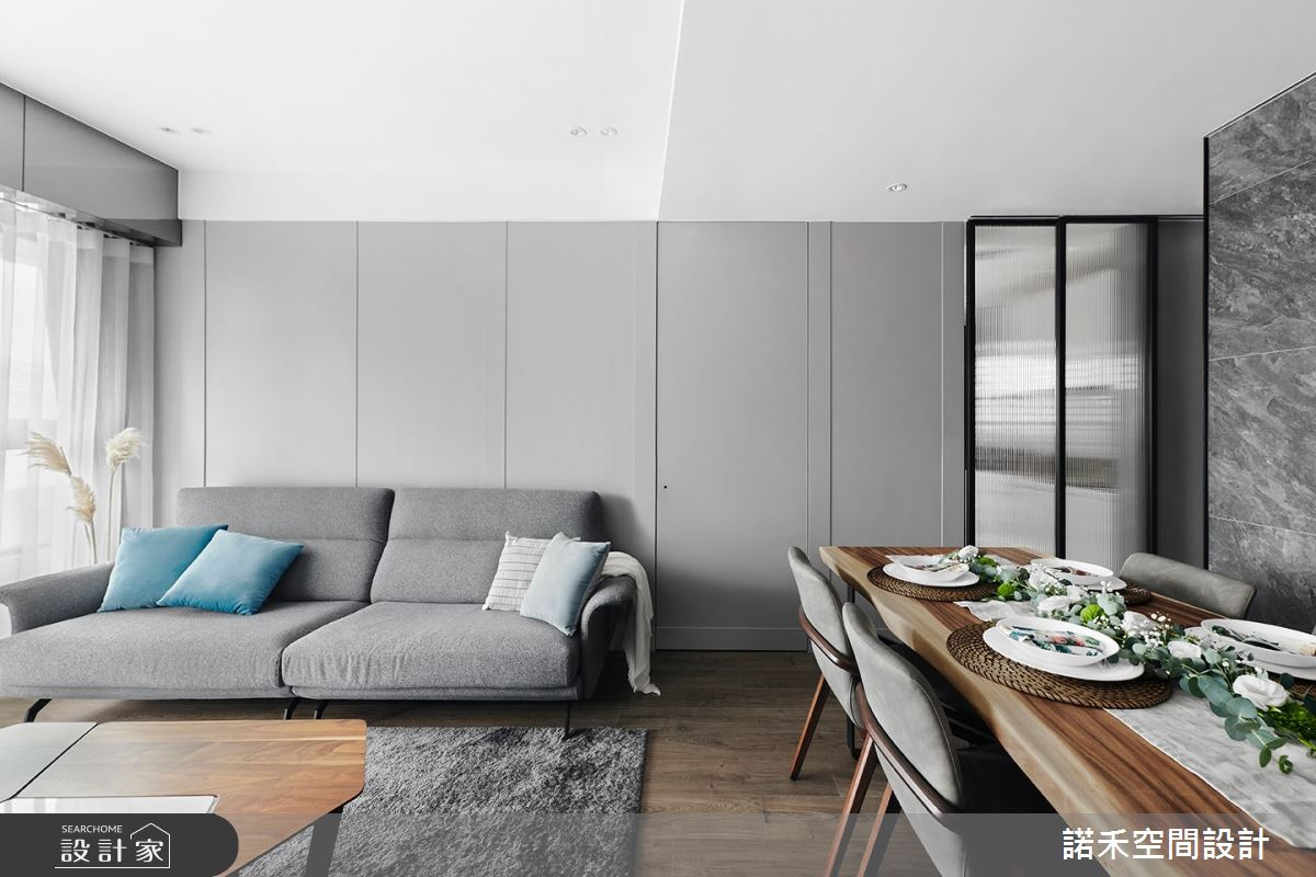 19坪新成屋(5年以下)_現代風客廳餐廳案例圖片_諾禾空間設計 上碩室內裝修_諾禾_40之4