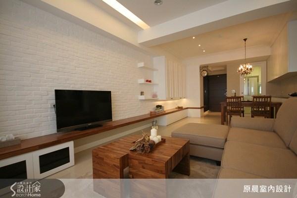 33坪新成屋(5年以下)_鄉村風玄關客廳餐廳案例圖片_原晨室內設計_原晨_04之2