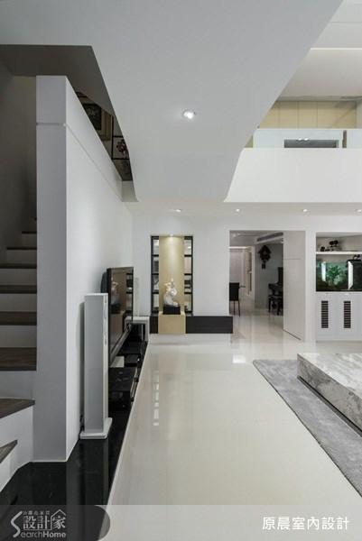 45坪老屋(16~30年)_現代風客廳樓梯案例圖片_原晨室內設計_原晨_09之3