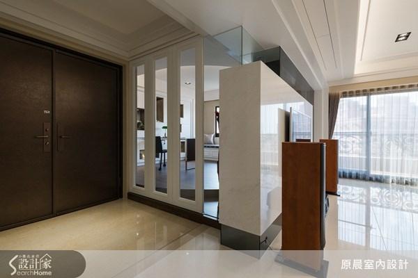 80坪新成屋(5年以下)_新古典玄關案例圖片_原晨室內設計_原晨_10之1