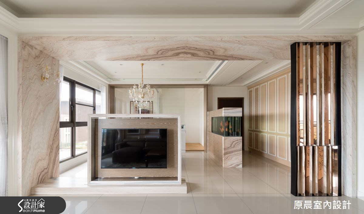 45坪新成屋(5年以下)_新古典玄關客廳佛堂案例圖片_原晨室內設計_原晨_11之3