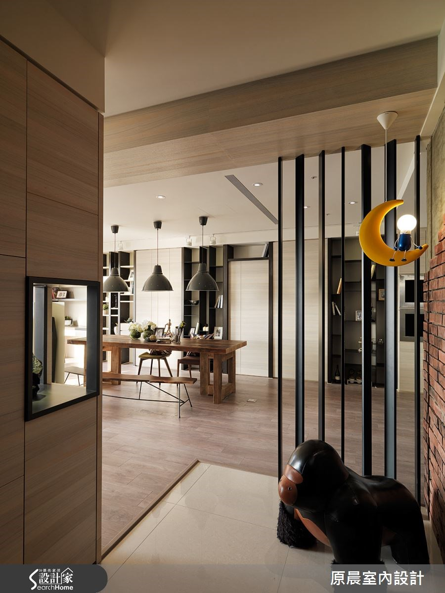 60坪新成屋(5年以下)_混搭風玄關餐廳案例圖片_原晨室內設計_原晨_12之3