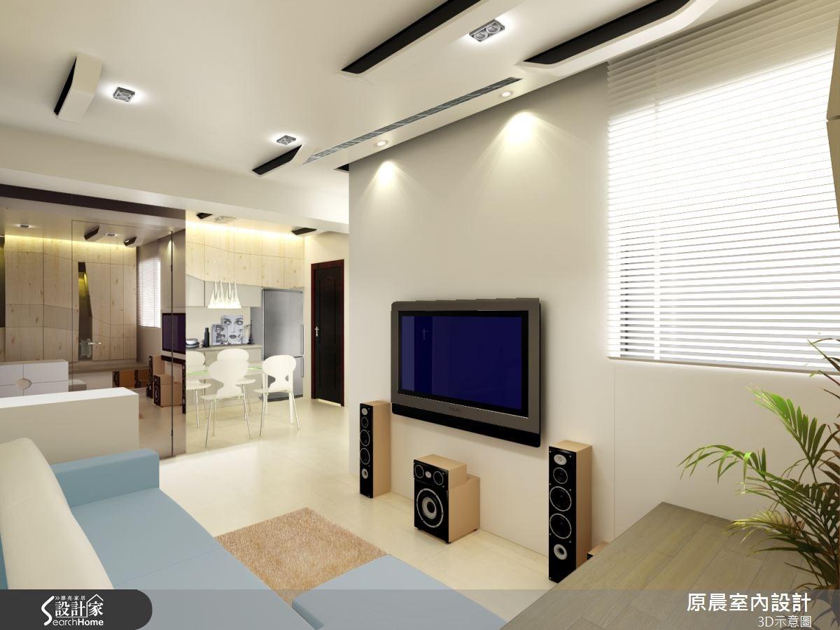 18坪新成屋(5年以下)_現代風客廳案例圖片_原晨室內設計_原晨_13之1