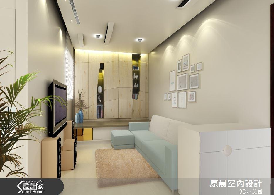 18坪新成屋(5年以下)_現代風客廳案例圖片_原晨室內設計_原晨_13之2
