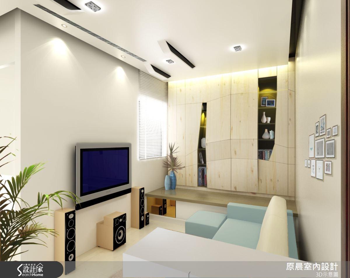 18坪新成屋(5年以下)_現代風客廳案例圖片_原晨室內設計_原晨_13之3