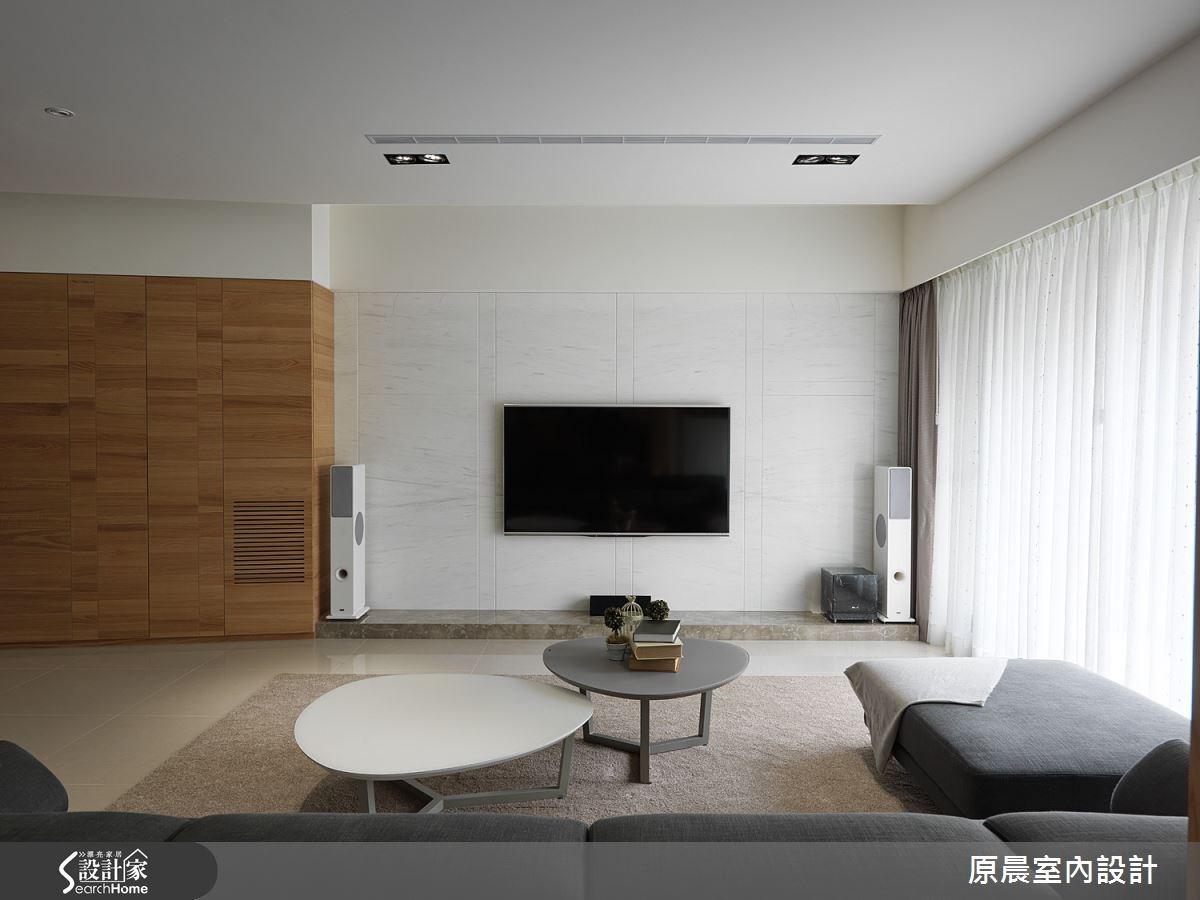 45坪新成屋(5年以下)_休閒風客廳案例圖片_原晨室內設計_原晨_15之3