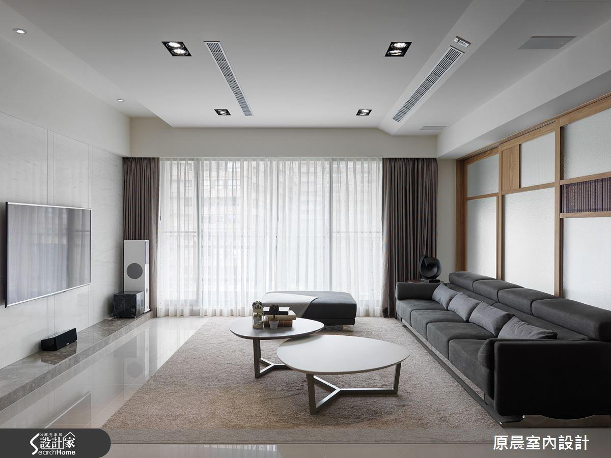 45坪新成屋(5年以下)_休閒風客廳案例圖片_原晨室內設計_原晨_15之4