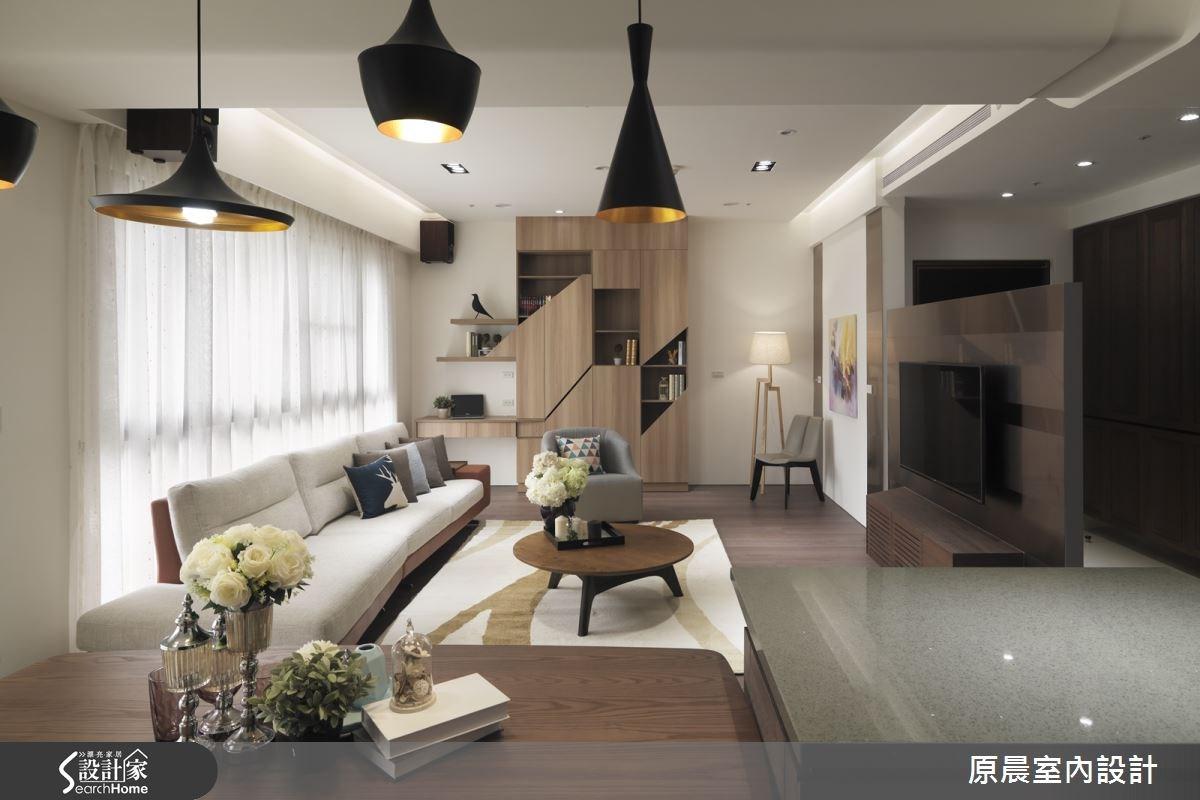 50坪新成屋(5年以下)_休閒風客廳案例圖片_原晨室內設計_原晨_18之17