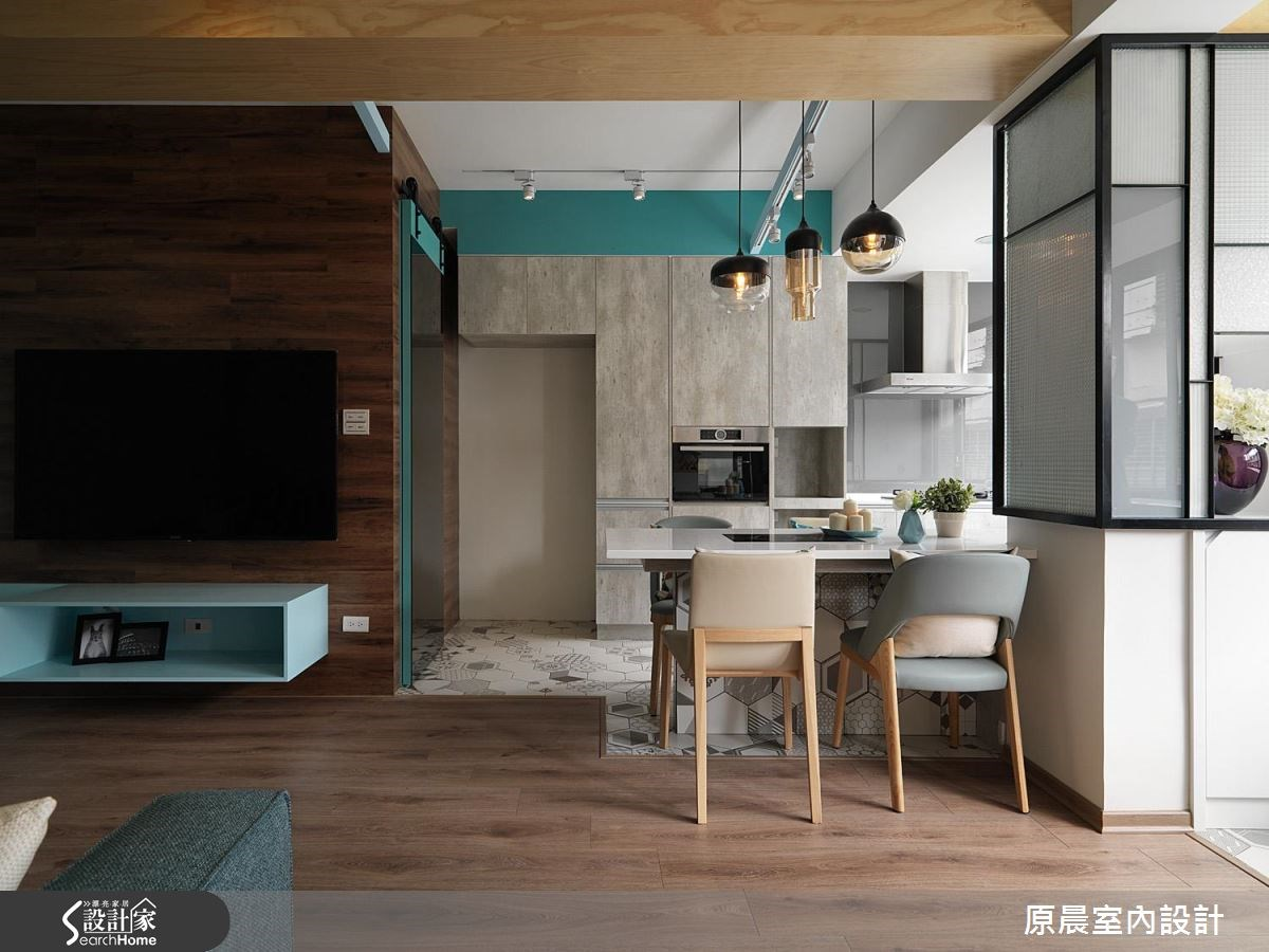23坪老屋(16~30年)_北歐風客廳餐廳廚房案例圖片_原晨室內設計_原晨_21之3