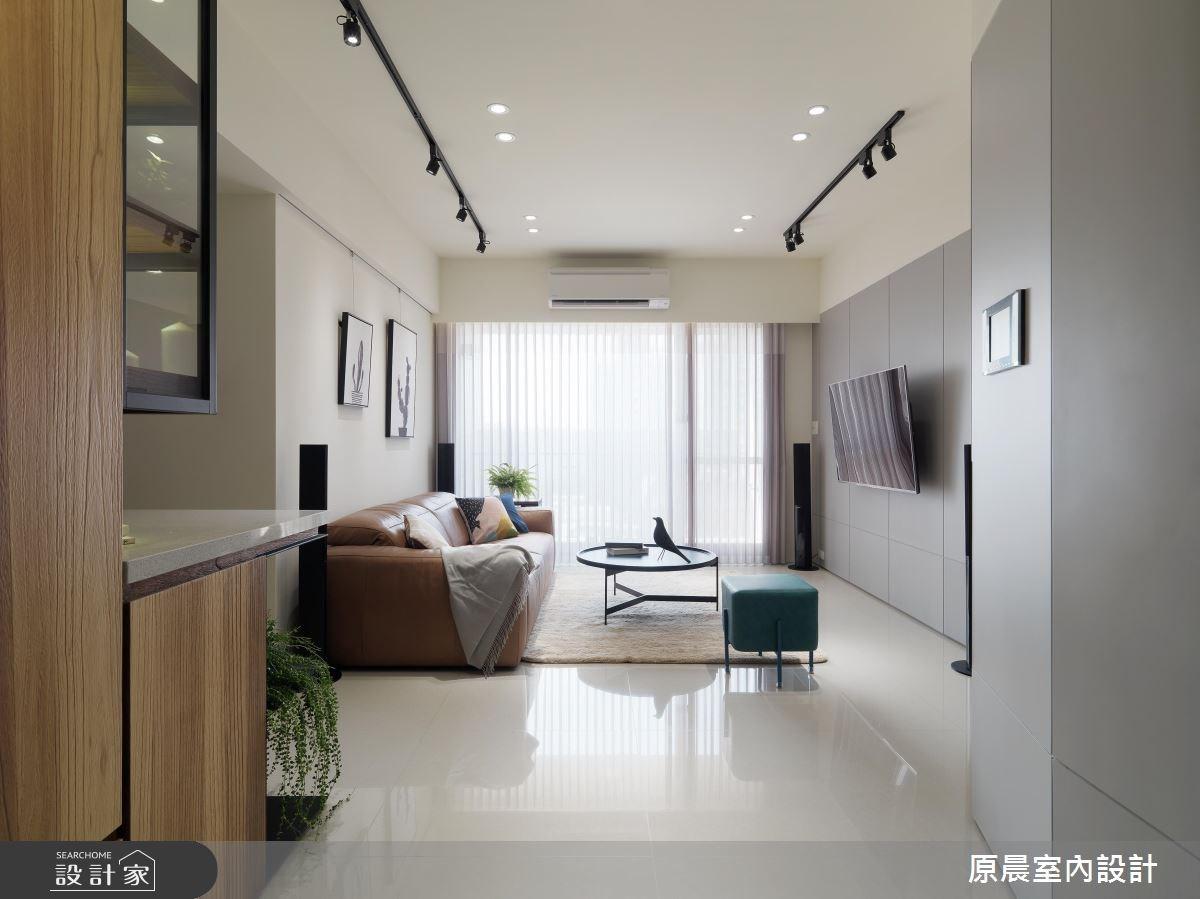 30坪新成屋(5年以下)_現代風玄關客廳案例圖片_原晨室內設計_原晨_27之1