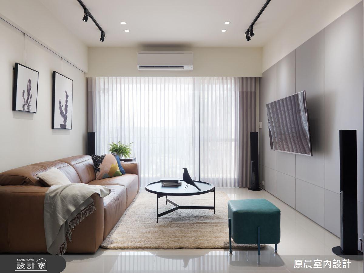 30坪新成屋(5年以下)_現代風客廳案例圖片_原晨室內設計_原晨_27之2