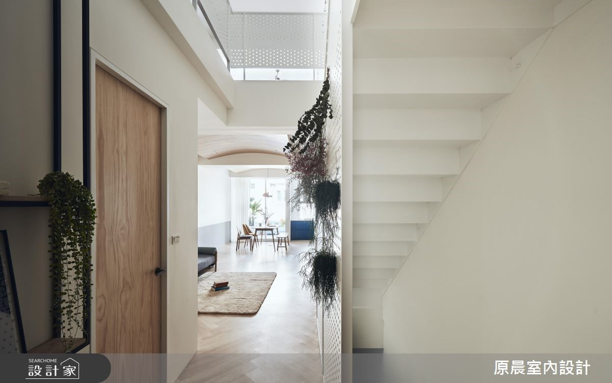 60坪老屋(16~30年)_北歐風樓梯走廊案例圖片_原晨室內設計_原晨_34之2