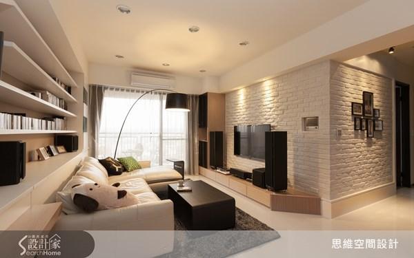 28坪新成屋(5年以下)_北歐風玄關客廳案例圖片_思維空間設計有限公司_思維_01之4