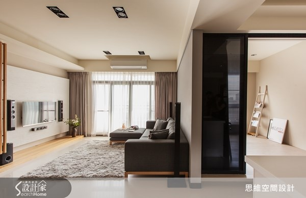 25坪新成屋(5年以下)_療癒風客廳書房案例圖片_思維空間設計有限公司_思維_02之2