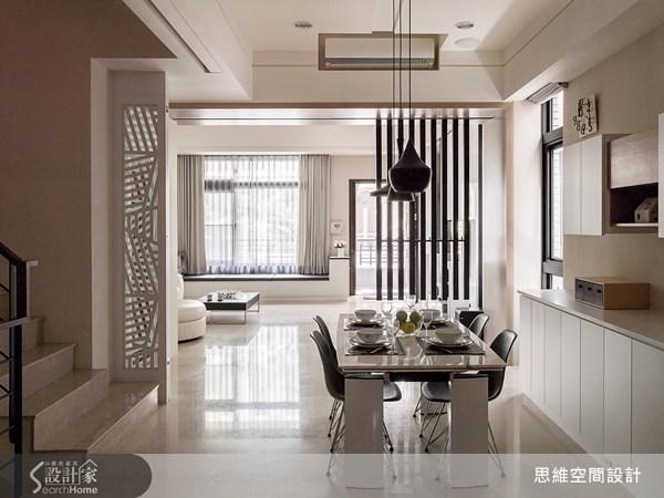 124坪新成屋(5年以下)_現代風客廳餐廳臥榻樓梯案例圖片_思維空間設計有限公司_思維_04之5