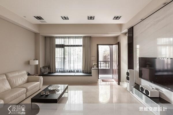 124坪新成屋(5年以下)_現代風客廳臥榻案例圖片_思維空間設計有限公司_思維_04之1