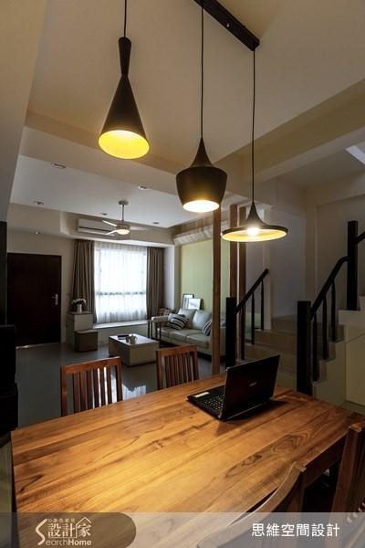 10坪新成屋(5年以下)_北歐風客廳餐廳臥榻樓梯案例圖片_思維空間設計有限公司_思維_12之15