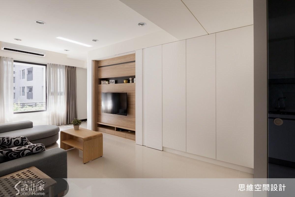 25坪新成屋(5年以下)_簡約風客廳案例圖片_思維空間設計有限公司_思維_18之2