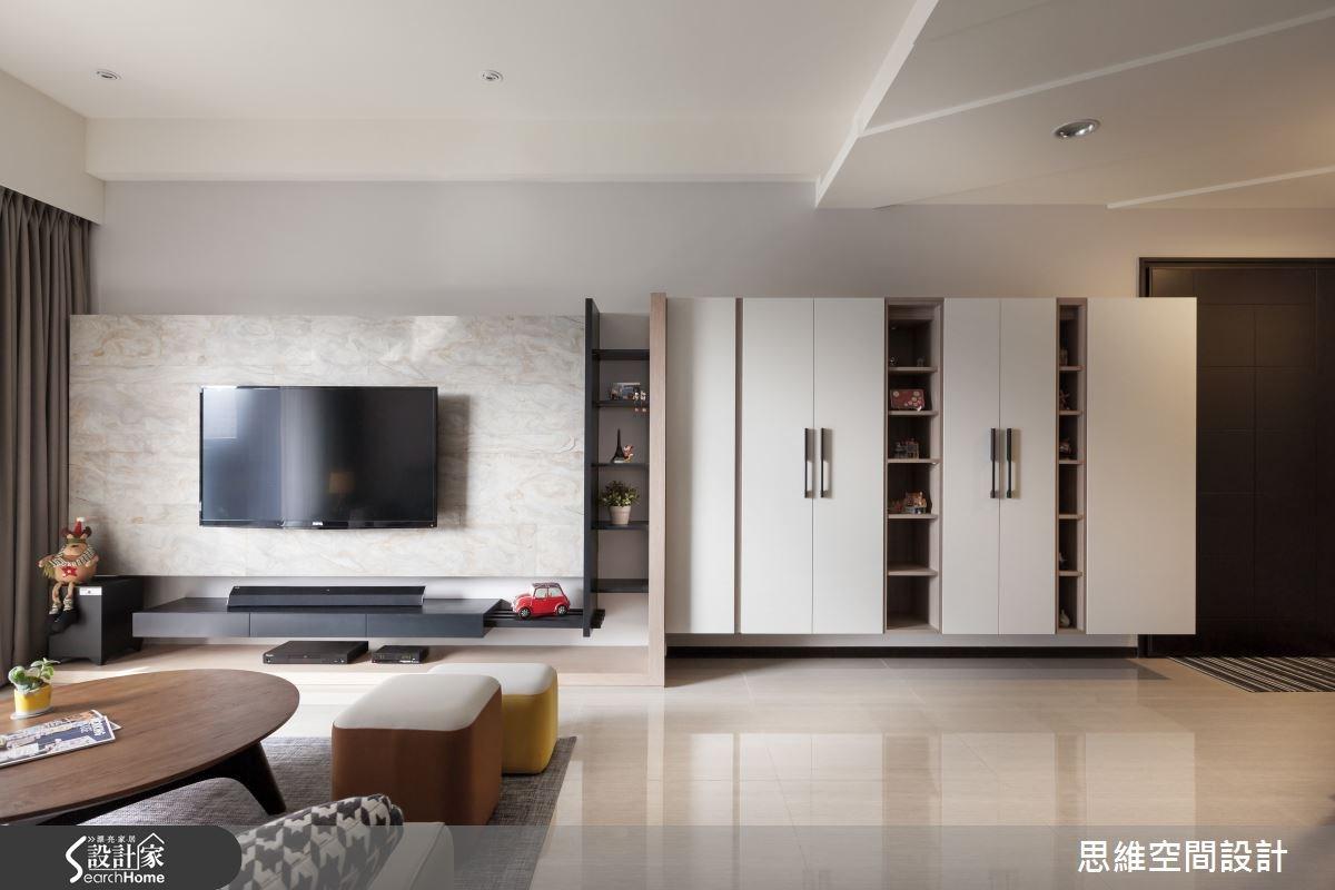 28坪新成屋(5年以下)_北歐風玄關客廳案例圖片_思維空間設計有限公司_思維_19之2