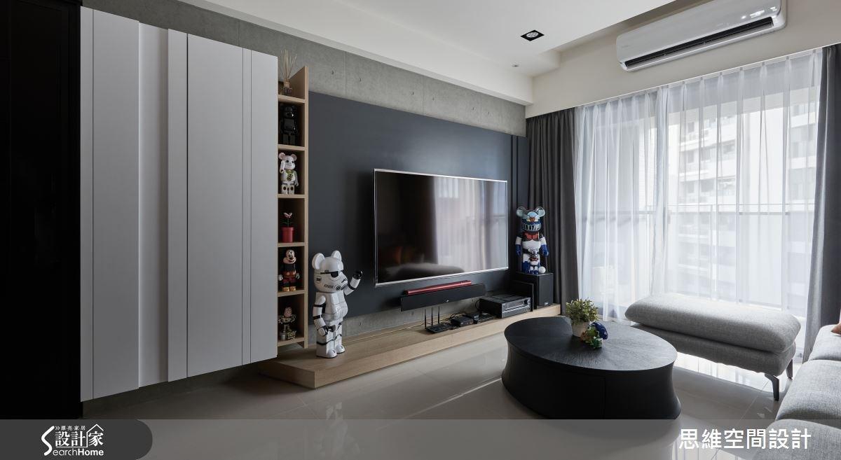 25坪新成屋(5年以下)_現代風玄關客廳案例圖片_思維空間設計有限公司_思維_25之1