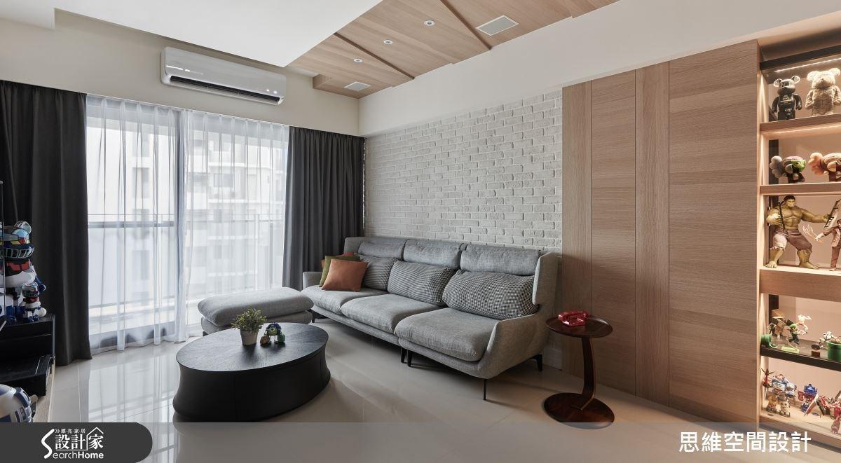 25坪新成屋(5年以下)_現代風客廳案例圖片_思維空間設計有限公司_思維_25之3