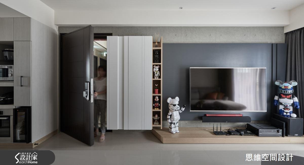25坪新成屋(5年以下)_現代風玄關客廳案例圖片_思維空間設計有限公司_思維_25之5