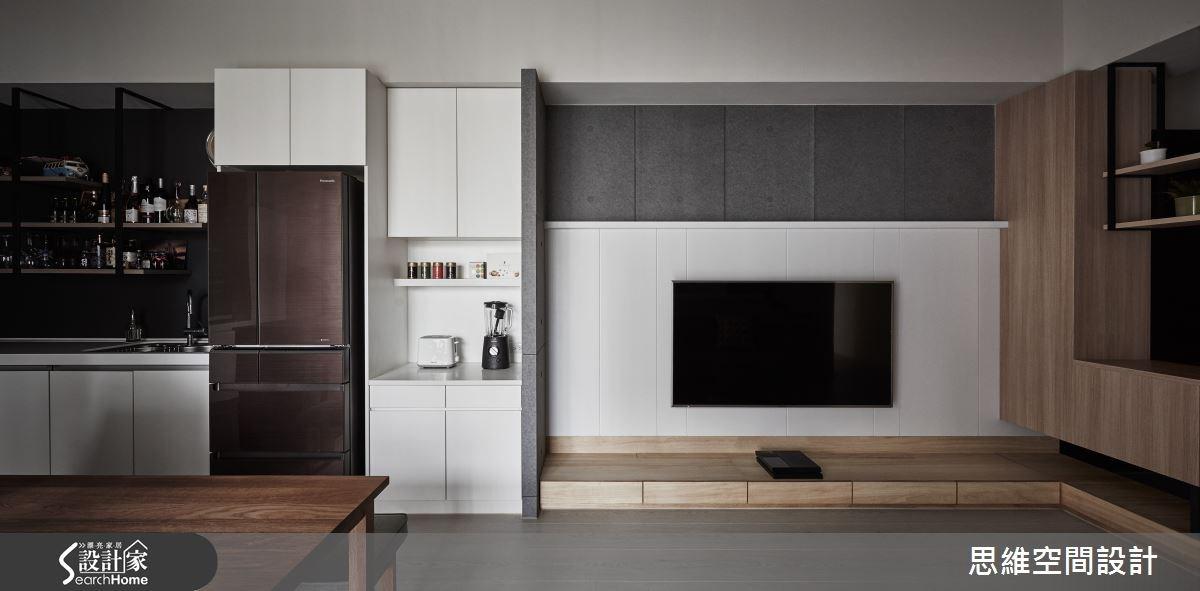 25坪新成屋(5年以下)_現代風客廳餐廳廚房案例圖片_思維空間設計有限公司_思維_26之1