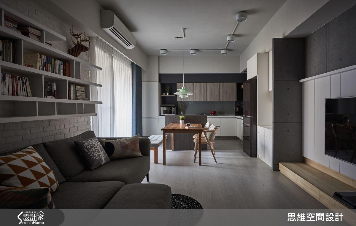 25坪新成屋(5年以下)_現代風客廳餐廳廚房案例圖片_思維空間設計有限公司_思維_26之4