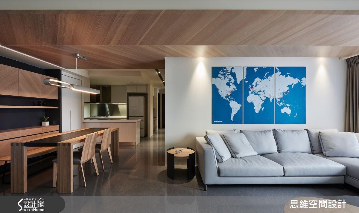 32坪新成屋(5年以下)_簡約風玄關客廳餐廳廚房走廊案例圖片_思維空間設計有限公司_思維_27之7