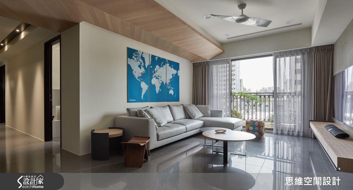 32坪新成屋(5年以下)_簡約風客廳走廊案例圖片_思維空間設計有限公司_思維_27之8