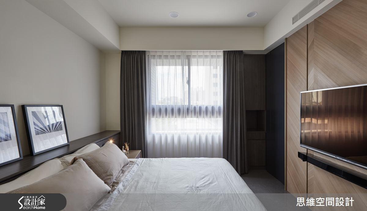 32坪新成屋(5年以下)_簡約風臥室案例圖片_思維空間設計有限公司_思維_27之15