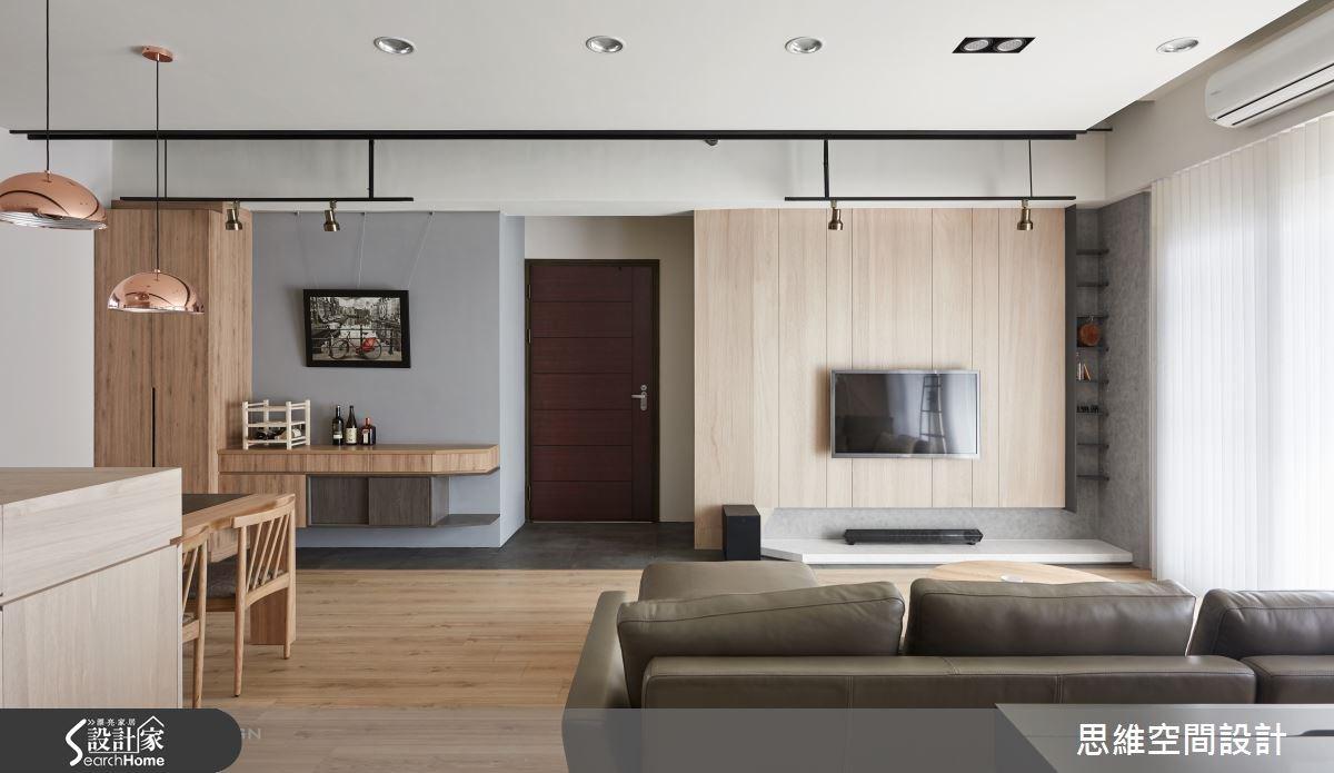 32坪新成屋(5年以下)_簡約風玄關客廳餐廳案例圖片_思維空間設計有限公司_思維_30之1
