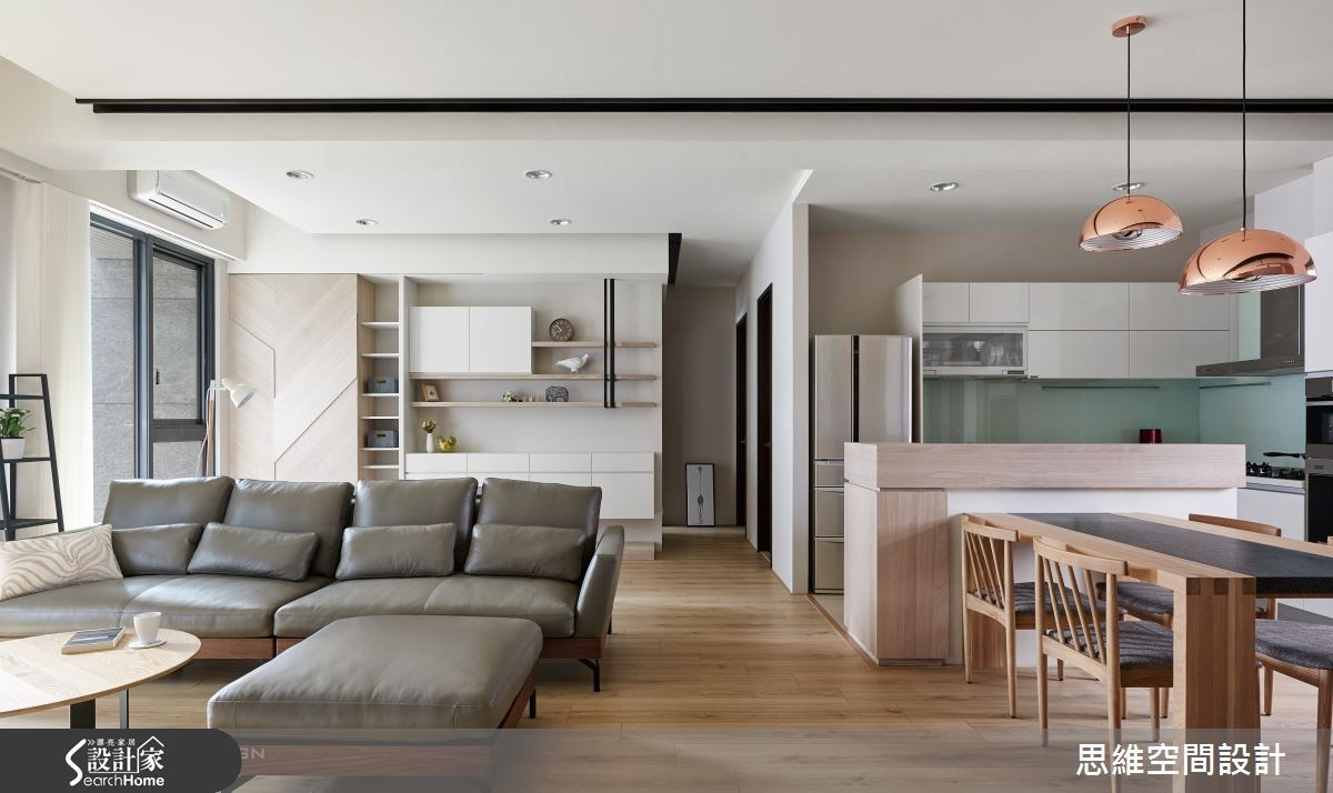 32坪新成屋(5年以下)_簡約風客廳餐廳案例圖片_思維空間設計有限公司_思維_30之7
