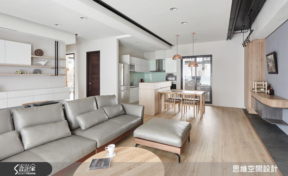 32坪新成屋(5年以下)_簡約風客廳餐廳廚房案例圖片_思維空間設計有限公司_思維_30之10