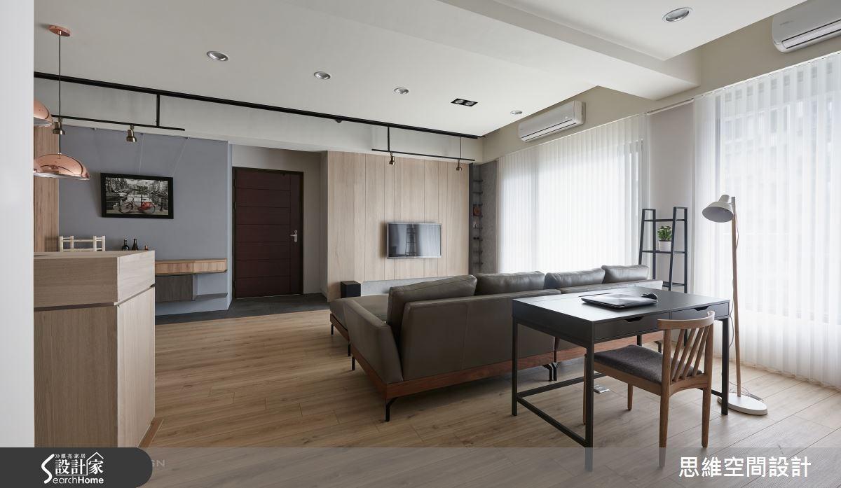 32坪新成屋(5年以下)_簡約風客廳案例圖片_思維空間設計有限公司_思維_30之11