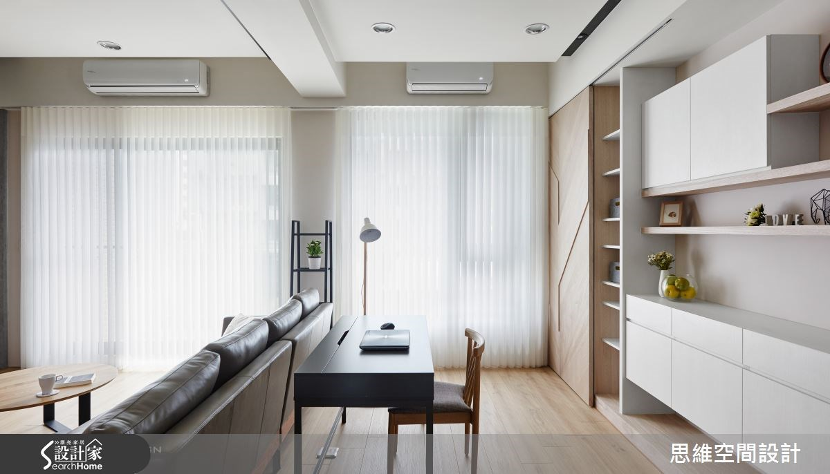 32坪新成屋(5年以下)_簡約風客廳書房案例圖片_思維空間設計有限公司_思維_30之14