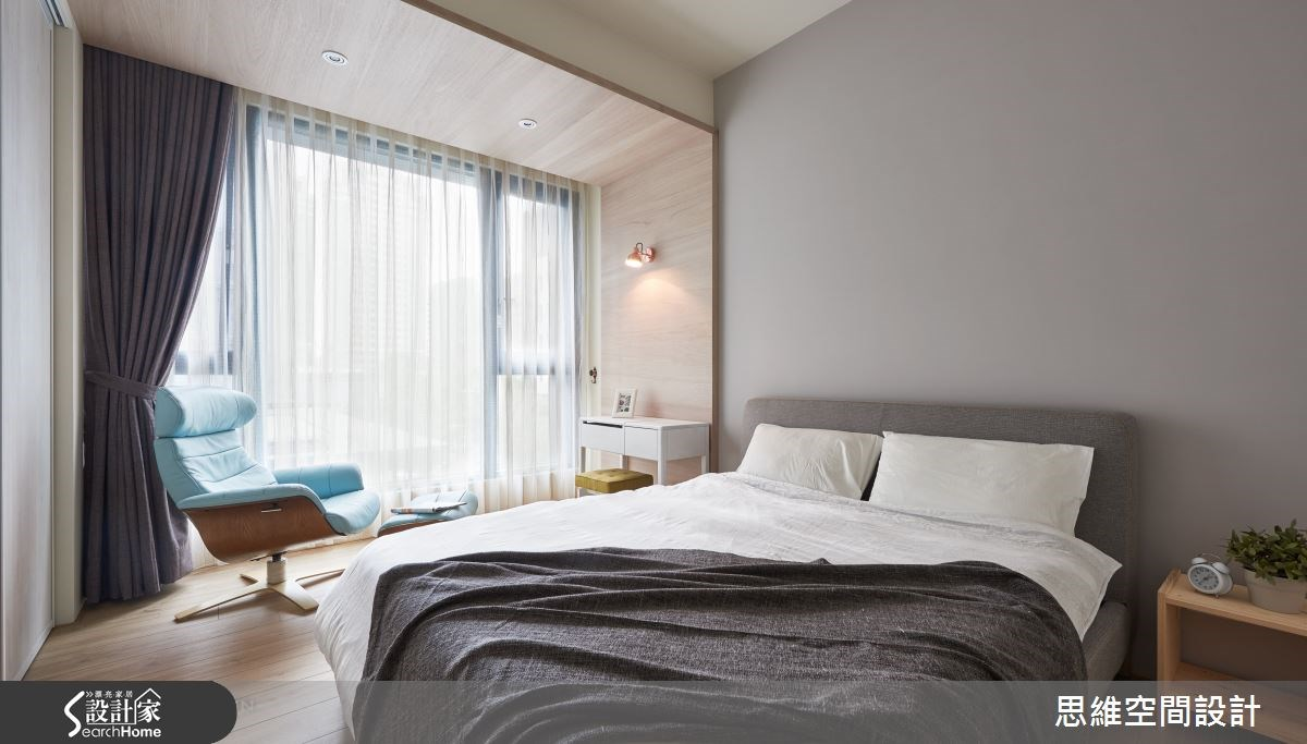 32坪新成屋(5年以下)_簡約風臥室案例圖片_思維空間設計有限公司_思維_30之18